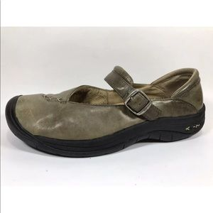 Keen Olive Green Leather Mary Janes 9.5